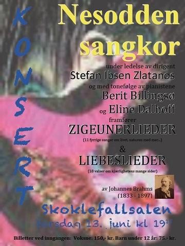Vårkonsert i Skoklefallsalen 2013. Lieder. Dirigent: Stefan Ibsen Zlatanos.