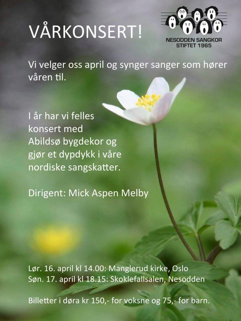 Vårkonsert sammen med Abildsø Bygdekor april 2016.